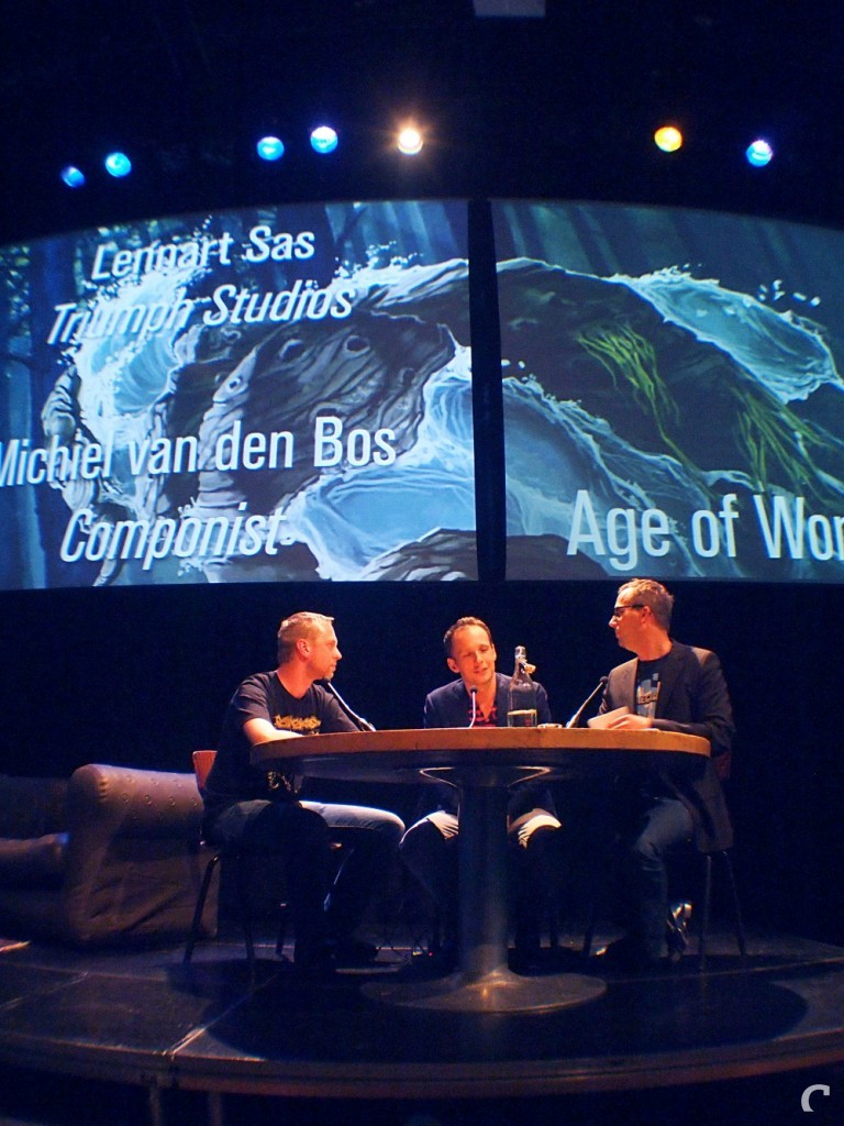 Michiel van den Bos en Lennart Sas (Triumph Studios)