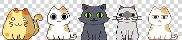 Vroege designs voor Nom Cat.