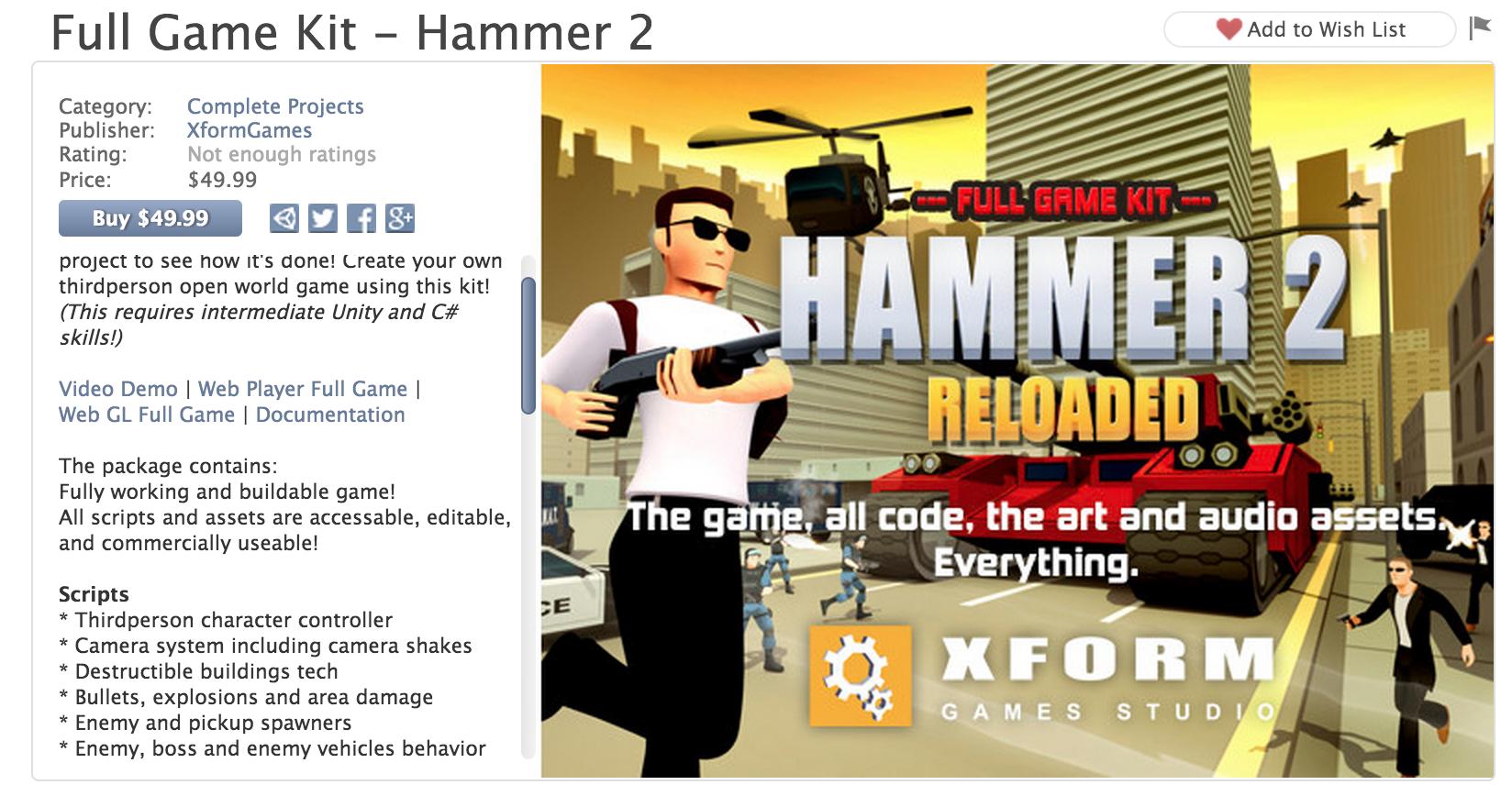 Hammer 2 unity