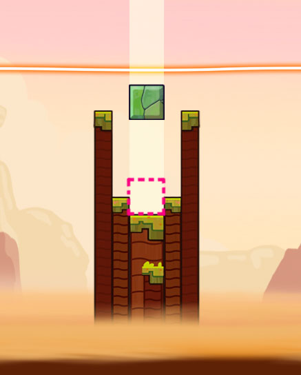 tricky towers puzzle design