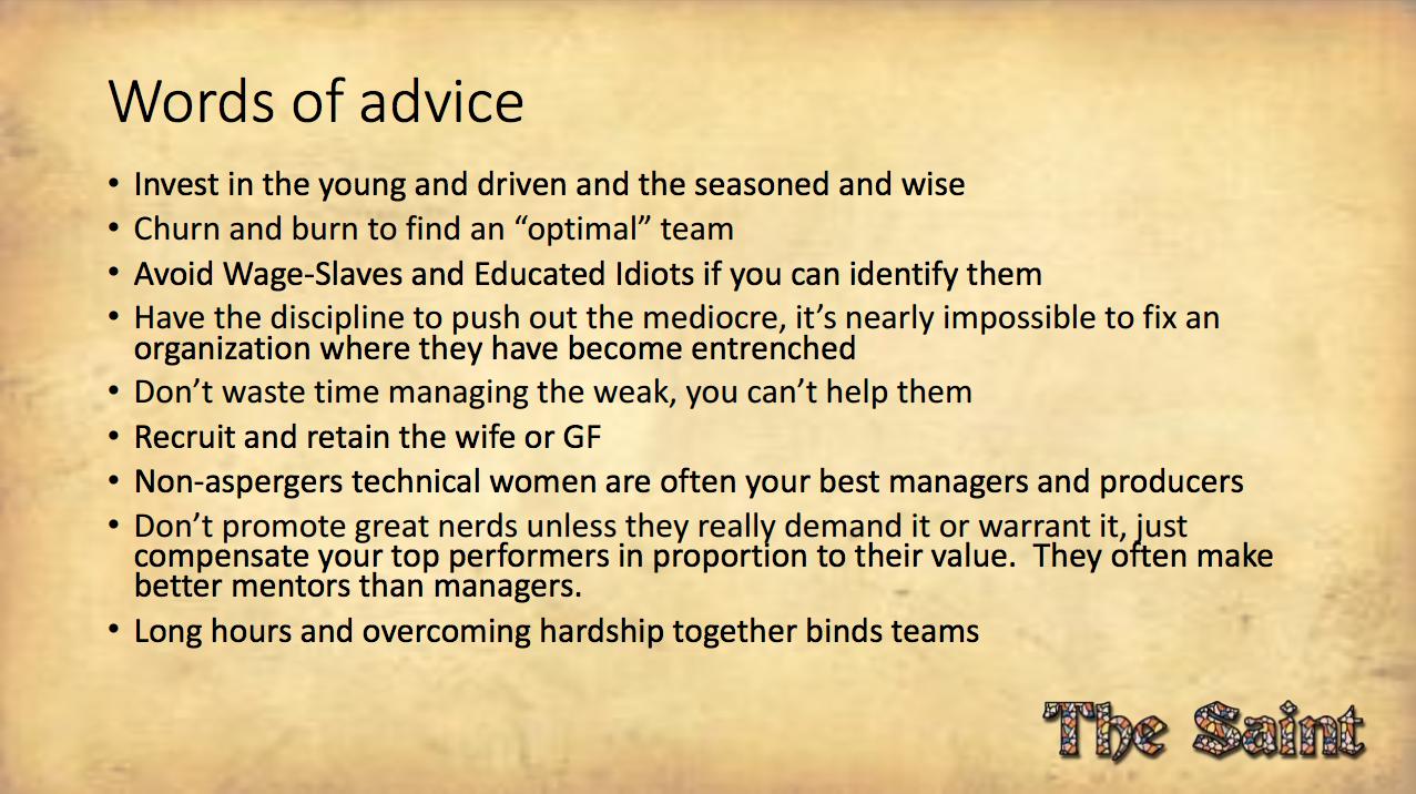 Words of Advice Alex St John
