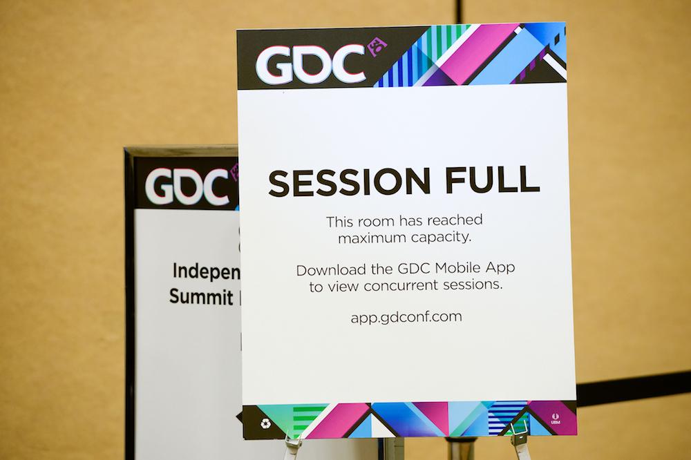 GDCVR session full